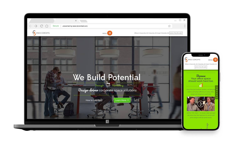 Commercial business website design