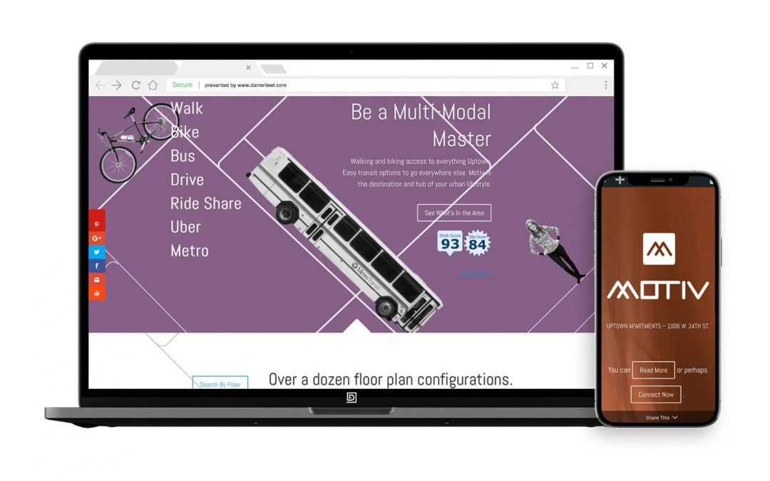 Promoting Lifestyle and Location – Motiv Apartments Website