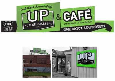 Cafe Billboard and Signage